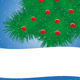Christmas tree with red balls Stock Photos