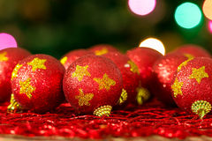 Christmas Tree Red Balls Stock Photography