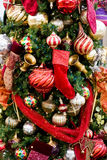 Christmas Tree Red Boot and Ornament Stock Photos