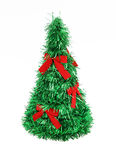 Christmas Tree with Red Bows. Isolated on white background Royalty Free Stock Images
