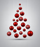 Christmas tree with red christmas balls. Royalty Free Stock Photography