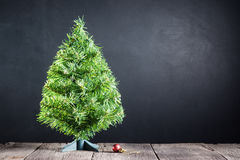Christmas tree  and red decorate ball Stock Image