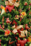Christmas tree red decorated backgrounds Stock Images