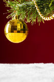 Christmas tree on red Royalty Free Stock Images