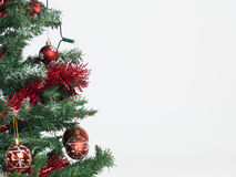 Christmas tree with red decorations Royalty Free Stock Photo