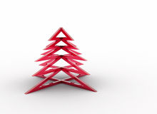 Christmas tree red glass Royalty Free Stock Photo