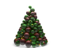 Christmas tree in red and green Stock Image