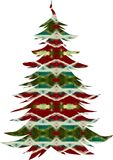 Christmas Tree. Red, green, and white Christmas tree Royalty Free Stock Photos