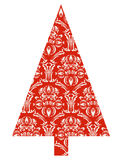 Christmas tree with red pattern Royalty Free Stock Photography