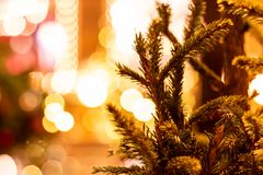 Christmas tree on red square royalty free stock images
