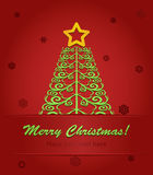 christmas tree with a red star Royalty Free Stock Image