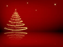 Christmas tree with reflection Royalty Free Stock Photo