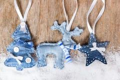 Christmas tree, reindeer and star Royalty Free Stock Image