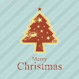 Christmas tree retro style Stock Photography