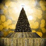 Christmas tree in Retro style Royalty Free Stock Image