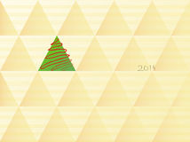 Christmas tree in retro style. The geometric background with a christmas tree in retro style Stock Images