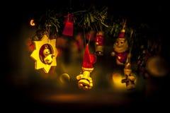 Christmas tree. Retro toys from christmas tree Stock Photo