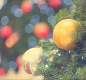 Christmas tree in retro vintage filter Stock Photography