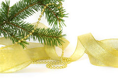 Christmas tree and ribbon Royalty Free Stock Photography