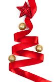 Christmas tree from ribbon background Stock Photography