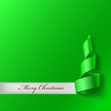 Christmas tree from ribbon Royalty Free Stock Photography