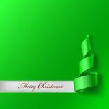 Christmas tree from ribbon Royalty Free Stock Photography