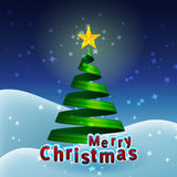 Christmas Tree Ribbon Royalty Free Stock Photography