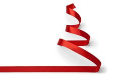 Christmas Tree ribbon Stock Photography