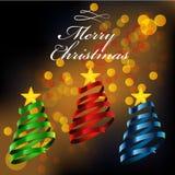 Christmas tree ribbon style. Stock Photo