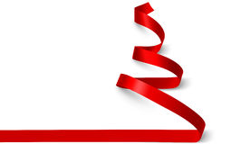 Free Christmas Tree Ribbon. Vector Royalty Free Stock Photo - 58842725