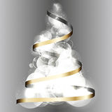 Christmas tree 2015 ribbon vector background Royalty Free Stock Images