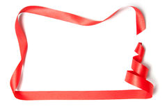 Christmas tree ribbon. On a white background Royalty Free Stock Photo
