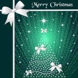 Christmas tree and ribbons Royalty Free Stock Photos