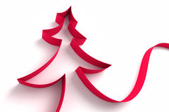 Christmas tree from ribbons Royalty Free Stock Image