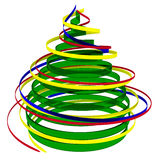 Christmas tree from ribbons Royalty Free Stock Photography