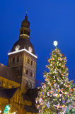 Christmas tree in Riga Stock Photography
