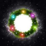 Christmas Tree Ring on Dark Background Stock Photography