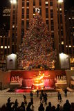 Christmas tree at Rockefeller Royalty Free Stock Photo