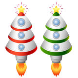 Christmas tree rocket. There are Christmas tree rockets Stock Photos