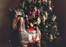 Christmas tree and rocking horse