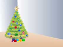Christmas tree in the room Royalty Free Stock Images
