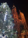 Christmas tree at the Rynek Royalty Free Stock Image