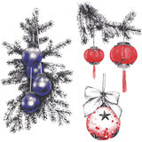 Christmas-tree`s toys Royalty Free Stock Images