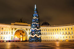 Christmas tree in Saint Petersburg Stock Photo