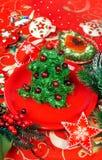 Christmas tree salad Stock Images