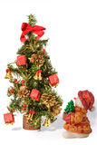 Christmas Tree and santa baby with presents Royalty Free Stock Photography