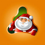 Christmas tree and Santa Claus Stock Image