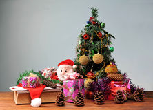 Christmas tree with Santa Claus Royalty Free Stock Photo