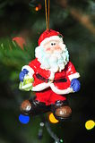 Christmas tree santa claus decoration royalty free stock photo