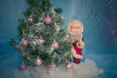 Christmas Tree with Santa Claus Stock Photography